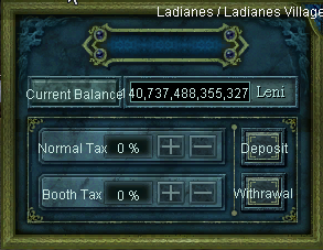 Ladianes Castle Taxes UI
